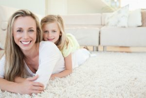 mother and daughter on carpet Vans chem-dry