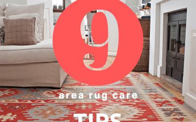 Nine Area Rug Care Tips