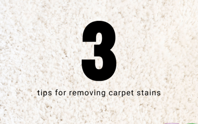 3 Tips For Removing Carpet Stains