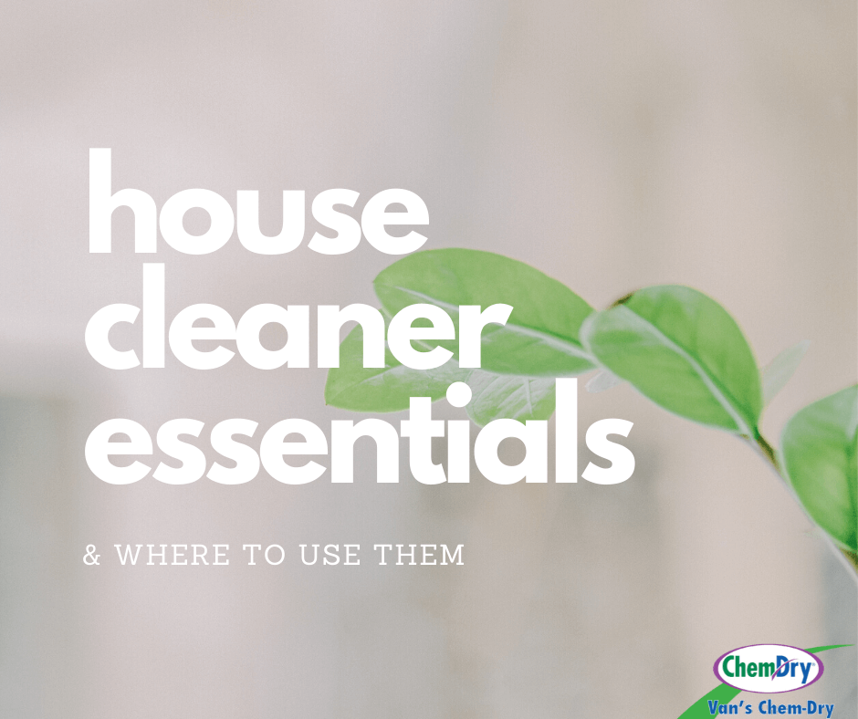 house cleaner essentials and where to use them vans chem dry