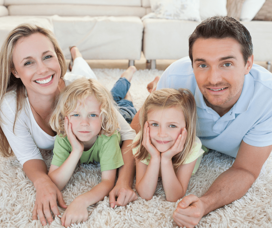 family on carpet sacramento california